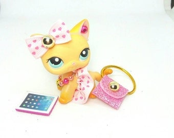 Littlest Pet Shop LPS custom outfit clothes accessories lot * Catdog not included *