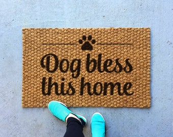 Funny welcome mat, funny front door mat, indoor rug, outdoor rug, doorstep mat, welcome rug, housewarming gifts, dog gifts, dog lover gifts