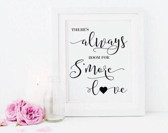 S'mores Bar Sign - S'mores Bar - S'mores Wedding Sign - Smores Bar - Smore Love Sign - Smore Love - Wedding Printab