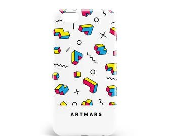 Nineties shell. PVC. iPhone 4, 4s, 5, 5s, SE, 5 c, 6, 6, 6 Plus 6s Plus, 7 and 7 more, design illustration, madeinfrance, 90, 80, artmars