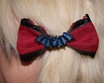 Crimson Bat Hair Bow