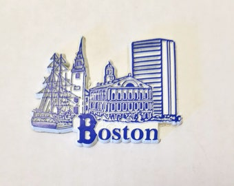 Boston - Vintage Magnet for the Fridge, Kitchen, Crafts