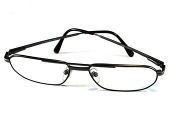 Vintage Reading Glasses, Sferettaflex, Frame Austria, Mahogany Colored Frame, Glass, Vintage Glasses, Metal Frame, Flex CL