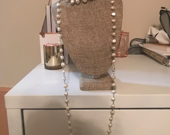 Freshwater pearl wrap necklace
