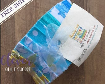 "Jelly Roll 2.5"" Strips, Benartex, Fancy Free by E. Vive, Precut Quilting Fabric, Last 1!"