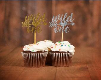 Wild One Cupcake Topper