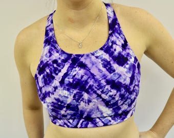 Purple sports chamoire top for women, BRA, BRA, MLcreation