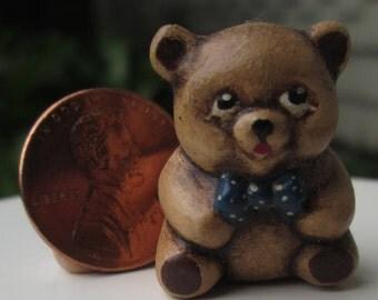 Dollhouse Miniature Teddy Bear bank