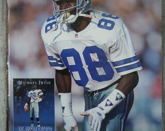 Vintage Dallas Cowboys - Dallas Cowboys gift - Michael Irvin gift - Dallas Cowboys football - Vintage magazine, Dallas Cowboys poster, Irvin