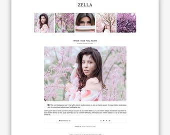 LIMITED! Zella | Responsive Minimalist Premade Blogger Template