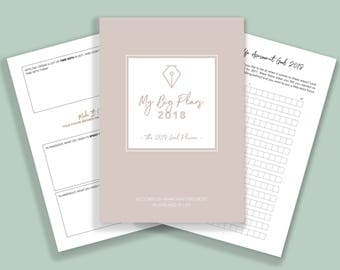 PRINTABLE Goal Planner 2018 // Goal setting PDF Productivity planner Success planner New Years resolution planner Life goals printable PDF