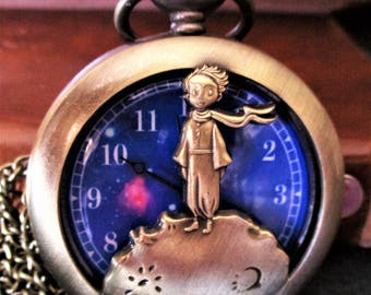 The little prince little Prince, watch clock, steampunk necklace