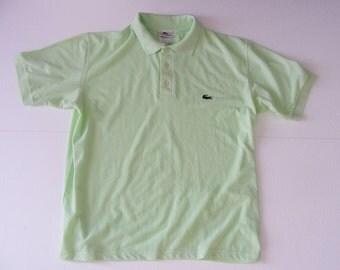 Vintage Lacoste Short Sleeve Polo Shirt Cotton Size Large L
