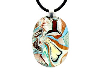 Resin necklaces for women, Resin pendant blue gift for wife, Resin jewelry xmas gift for sister,  Resin painting boho girlfriend gift