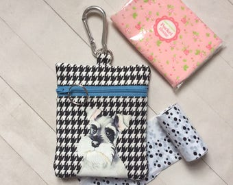 Dog Walking Bag, Schnauzer Pouch, Dog Treat Bag, Dog Gift, Dog Birthday Gift, Gift For Her, Dog Lover Gift
