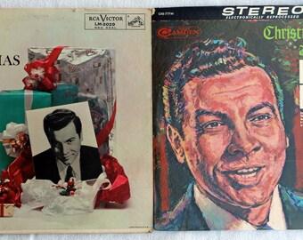 2 pack Mario Lanza - Christmas Hymns and Carols -Lanza Sings Christmas Carols - Vinyl
