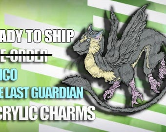 READY TO SHIP Trico The Last Guardian Acrylic Charms/Keychain/Necklace