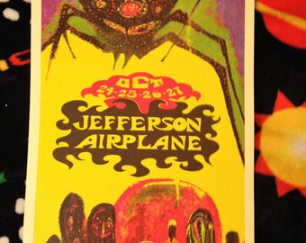 Jefferson Airplane Vintage Concert Poster Reproduciton