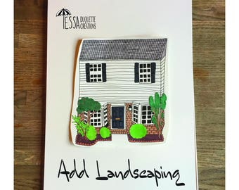 ADD-ON: Landscaping for A Custom House & Estate Hand Drawn Illustrations