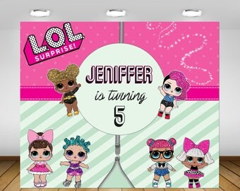 Printable LOL Surprise Doll Birthday Party Backdrop, LOL Surprise Birthday Decorations, Backdrop, Poster, Sign, Banner, Birthday Party