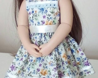 A Girl Of Our Time doll*Dress*Floral*Ribbon