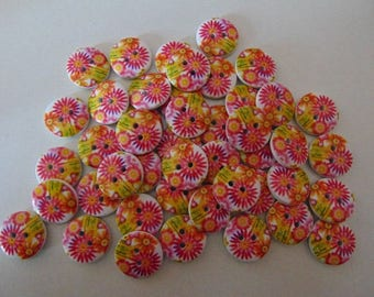 set of 20 round buttons