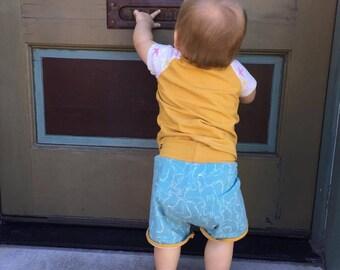 Crafty Kitty Retro shorts // baby shorts // toddler shorts//shorties// Cat shorts //