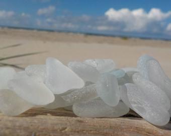 """10 pcs Genuine white Sea Glass Bulk -Size-0,6-1""""-Jewelry quality-For Jewelry Art, Mosaic, Home -Wedding decor#25B#"""