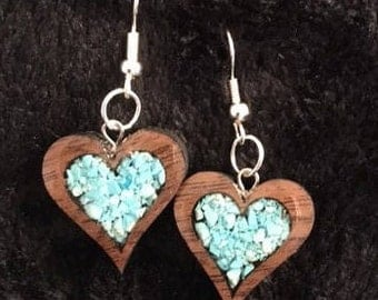 Two Hearts Become One Earrings