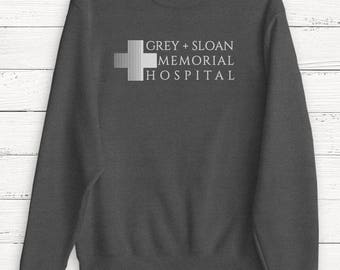 Grey Sloan Memorial Hospital - Sweater - Sweatshirt - Shirt - Grey's Anatomy T-Shirt - Meredith Grey - Derek Shepherd - Grey's TShirt