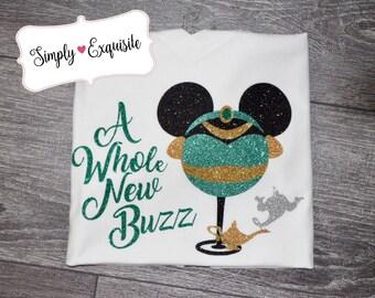 A Whole New Buzz, Jasmin, Aladdin, Epcot Food and Wine Shirt, Drinking Disney Shirt