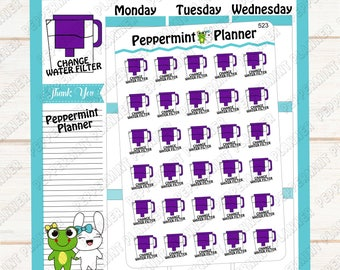 Change Water Filter --- Planner Stickers ---523