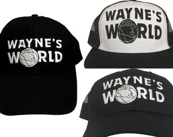 PICK a STYLE Wayne's World Hats As Worn By Wayne Campbell In Saturday Night Live Baseball Trucker Cap 90s Movie Tv SNL Costume Gift Adult