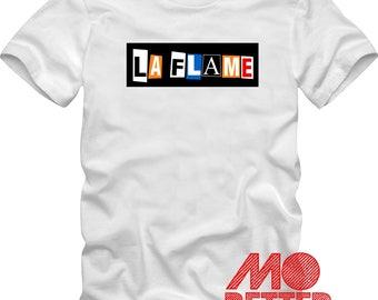 Custom Printed La Flame White T-Shirt Travis Scott
