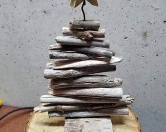 "Driftwood Christmas Tree Approximately 10"" tall"