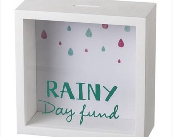 Rainy Day Fund Wooden Money Box