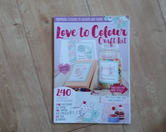 Love To Colour Craft Kit Magazine, Colouring Magazine, Colouring for Card Making, Colouring For Crafting