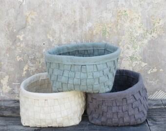 Bunnu Felt Woven Basket (in 6 colours)