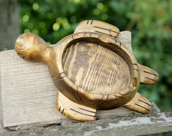 groomsmen gift|for|men turtle Ashtray wood Ashtray Cigarette Ash tray mid century dresser dish Ashtray Collectibles wooden Ashtray Smoker Gi