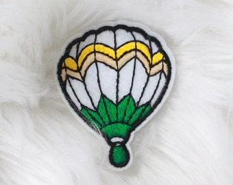 Hot air balloon DIY Iron-on Embroidered Patch!