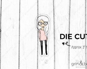 Glasses Girl - Doodle Girls Die Cut (DD002)