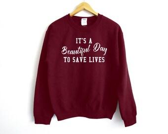 Grey's Anatomy Sweatshirt - Grey Sloan Memorial Hospital - Meredith Grey Sweater - Derek Shepherd - Tumblr Sweater - Meredith Grey