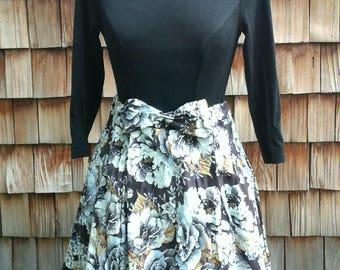 Dark Blue Flower Skirt