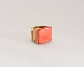ring made from recycled skateboard