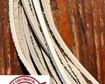 """100 Leather Laces 1/8"""" X 72"""" in Birch"""