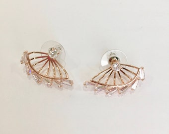 18K Rose gold plated stud earrings