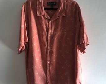 Vintage 'Pink Moon' silk buttondown shirt