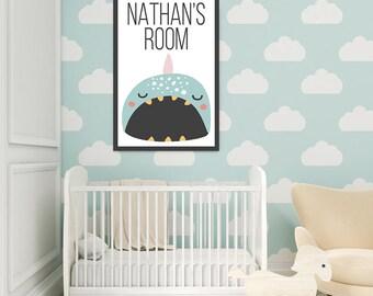 Narwhal Custom Children's Poster