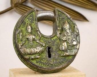 Ganesh key lock / Lakshmi - Ganesh / Lakshmi padlock