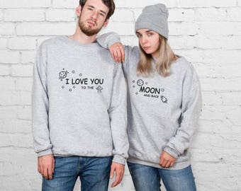 Couple Sweatshirt Couple Hoodies Couples Sweatshirt Mr and Mrs Sweater Valentine's Day Pärchen Pullover Valentine's Day Gift YP3328